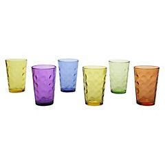 Juego 6 vasos 220ml mixed color