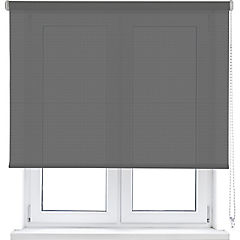 Cortina enrollable poliéster 250x120 cm gris