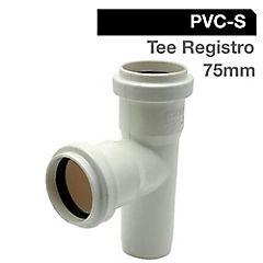 Tee registro PVC sanitario 75mm goma