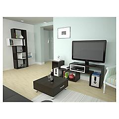 Combo mesa de centro + rack de TV + biblioteca