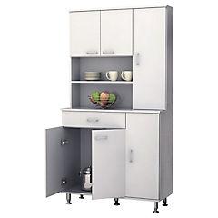 Estante para cocina 35x90x169 cm blanco