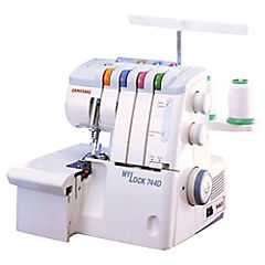 Máquina de coser Overlock blanco