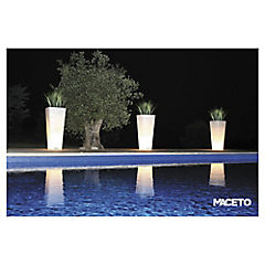 Macetero blanco con luz 50x100 cm