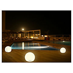 Esfera blanco con luz 40cm diametro