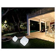 Cubo decorativo con luz 42x42x43 cm blanco