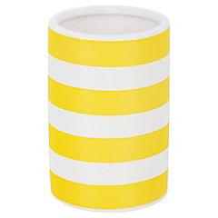 Vaso Cerámica Stripes Amarilo