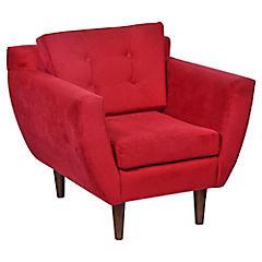 Sillón Elva 89x83x79 rojo