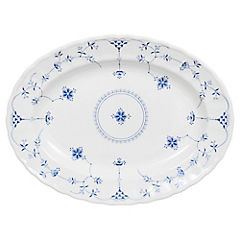 Plato Oval 33 cm Churchill Azul