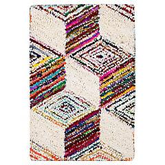 Alfombra Algodón Cuadro Color 60 x 90