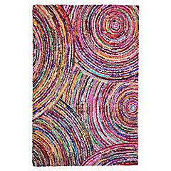 Alfombra Algodón Circular Color 120 x 170