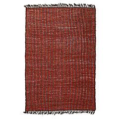 Alfombra Cuero Rayas Roja 120 x 170
