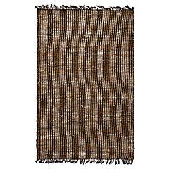 Alfombra cuero rayas natural 120 x 170