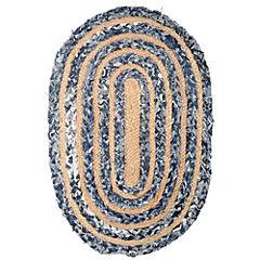 Alfombra ovalada Denim 50x80 cm