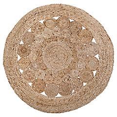 alfombra redonda jute 90 cm