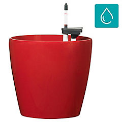 Macetero autor riego clásico 32x30 cm rojo