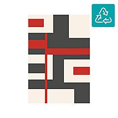 Alfombra Shuffle rojo 160x230 cm
