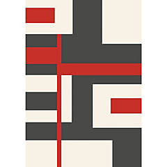 Alfombra Shuffle rojo 60x115 cm