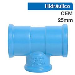 Tee PVC para cementar 25x20 mm