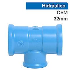 Tee PVC para cementar 32x25 mm