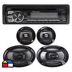Radio para auto con 4 parlantes