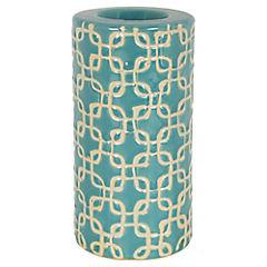 Porta tealight celeste 16 cm
