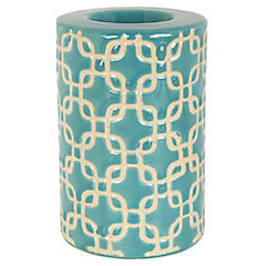 Porta tealight celeste 12 cm