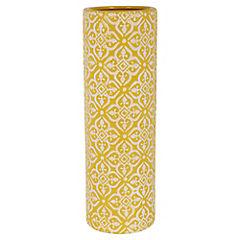 Jarron cilindro amarillo 35 cm