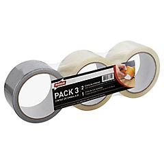 Pack cinta embalaje + cinta tela