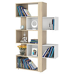 Bibliotera cubo extensible 26x70x161 cm oak