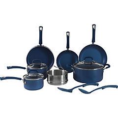 Batería de cocina 12 piezas aluminio Azul