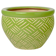 Macetero de cerámica 16x23x23 cm Verde