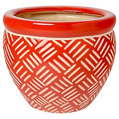 Macetero de cerámica 12x17x17 cm Rojo