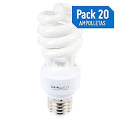 Pack 28 Ampolletas Espiral 13W Luz cálida