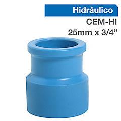 Terminal PVC presión 20 mm. x 3/4 pulgada Cementar-HI