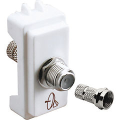 Modulo enchufe cable coaxial, blanco
