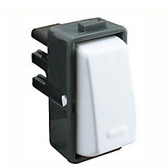 Modulo interruptor simple 9/12, blanco