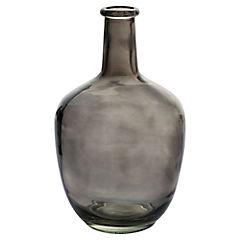 Botellón 31 cm vidrio gris