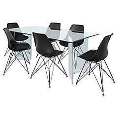 Juego de comedor mesa Vidrio 6 sillas Harrison