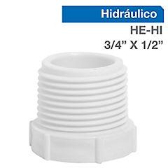 Buje reducción corto PVC para cementar 3/4 x 1/2