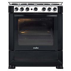 Cocina a gas 6 quemadores 110 litros negro