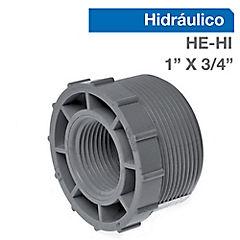 Buje reducción PVC 1 x 3/4 pulgadas, hilo interno-externo