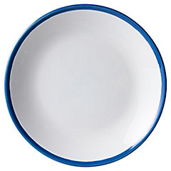 Plato para ensalada 20 cm banda azul
