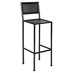 Silla de bar fierro 110x35x33 cm negro for Comedores falabella chile
