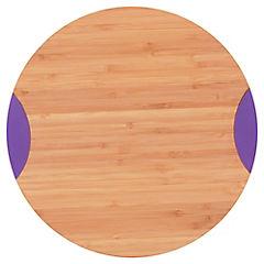 Tabla para picar bambú y silicona purpura