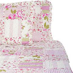 Quilt Patchwork Rosa 2 Plazas