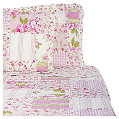 Quilt Patchwork Rosa King