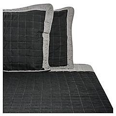 Quilt Bicolor Negro - Gris 2 Plazas