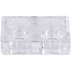 Porta Tealight Vidrio x4 Cuadrado