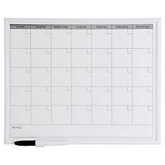 Pizarra magnética mensual 32x42 cm Blanco