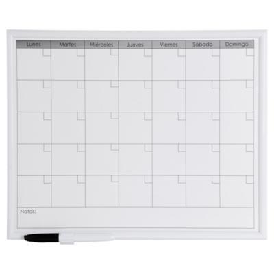 Pizarra magn tica mensual 32x42 cm blanco - Pizarra calendario ...